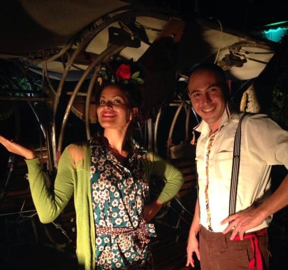 Actuando con la Compañia Antigua i Barbuda en las fiestas de la Mercè de Barcelona